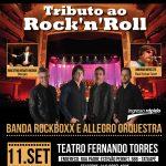 Show Beneficente une a banda Rock Boxx e a Allegro Orquestra no Teatro Fernando Torres